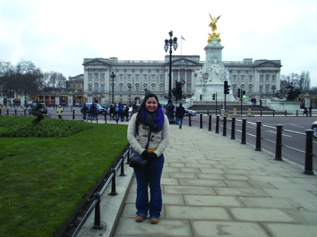 Fabiola outside of Buckingham Palace. The Buzz/Submitted.