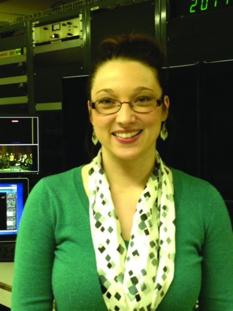 Johnna Klossing, former KWQC reporter, has joined the Communication Department as a Production Specialist. Laura Whitting/The Buzz.