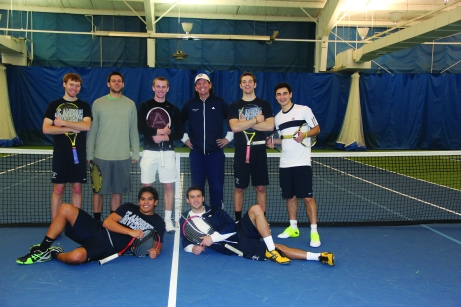 The men's tennis team will host Ashford and Grand View on April 13. The Buzz/Submitted.