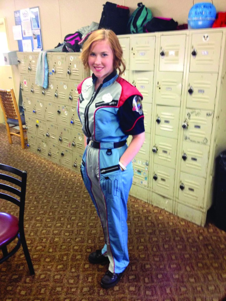 Morgan Griffin poses for a picture in her space jumpsuit. The Buzz/Submitted.