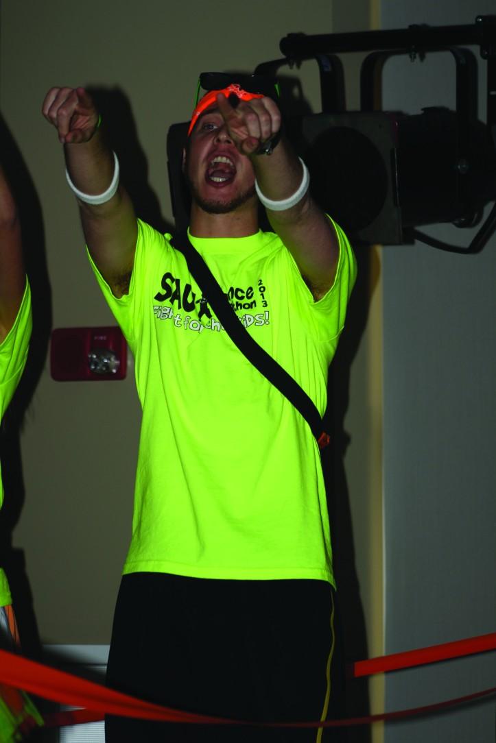 Scott Timmerman shares his excitement for Dance Marathon. Brittany Krenzelak/The Buzz.