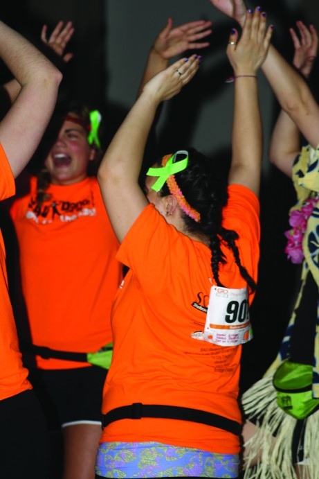 St. Ambrose students kept dancing for eight hours to support the kids of the Iowa Children's hospital. Brittany Krenzelak/The Buzz.
