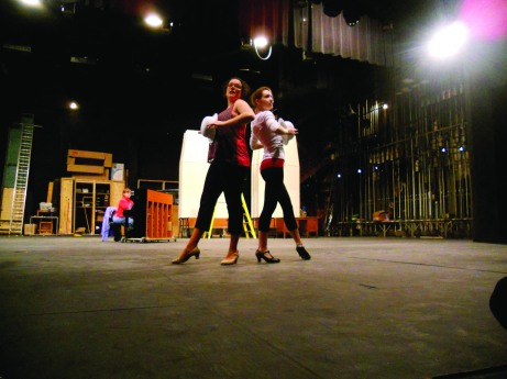 """Stephanie Seward and Kelsey Francis working the """"Chicago"""" final number. The Buzz/Submitted."""