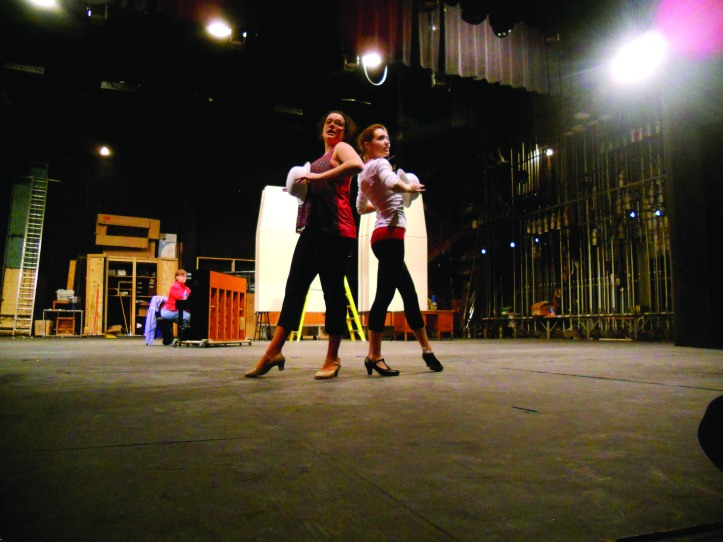 "Stephanie Seward and Kelsey Francis working the ""Chicago"" final number. The Buzz/Submitted."