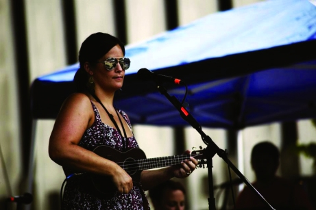 SAU grad Mo Carter plays at Street Fest in Davenport last July. The Buzz/Submitted.