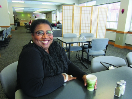 Callie Crossley spoke at SAU about race issues on March 6. Mary Madormo/The Buzz.