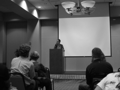 LaDuke is a women's rights activist and environmentalist. She spoke at SAU on Sept. 27. Rachel Pasker/The Buzz.