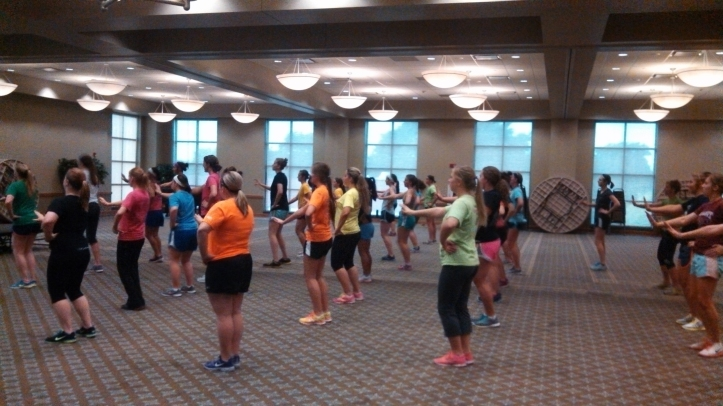 SAU students have fun and stay in shape at nightly Zumba classes held on campus.