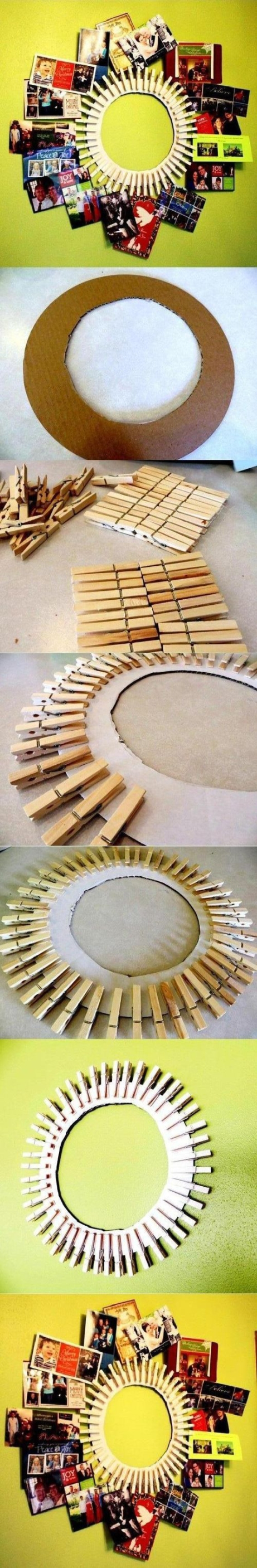 This different approach to a picture frame found on Pinterest is easy to make and prevents clutter. Submitted/Pinterest.