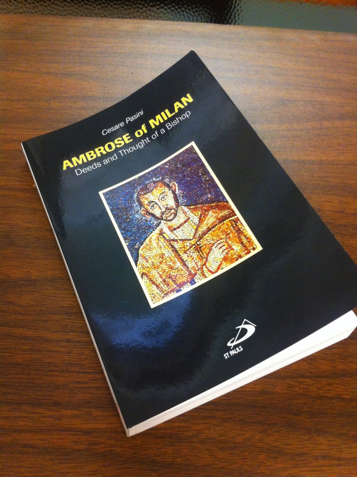 The biography of St. Ambrose is written by Msgr. Cesare Pasini. Alexandra Fulton/The Buzz.