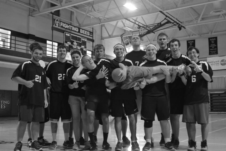The SAU dodgeball team is the newest member of the National Collegiate Dodgeball Association. Zack Lundquist/The Buzz.