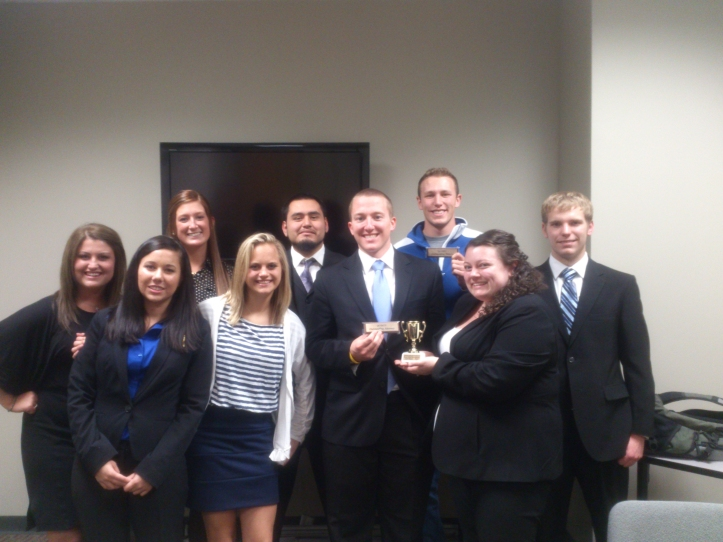 Members of the 2013 Mock trial team from left to right: Alexa Thompson, Whitney Bowton, Paige Wheeler, Alyssa Daniel, Mario Vega, Caleb Copley, Tyler Waugh, Devon Ruiz and Joe Dillion. The Buzz/Submitted.