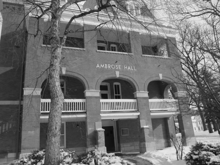 Most of the restorations to historic Ambrose Hall are complete. Tyler Mitchell/The Buzz.